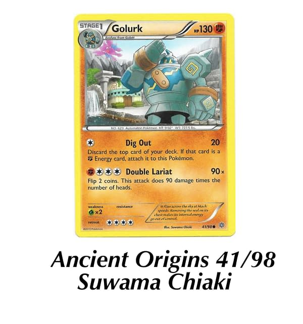 Ancient Origins Golurk. Credit: Pokémon TCG