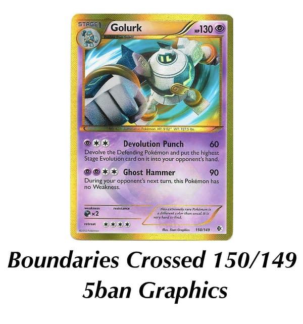 Boundaries Crossed Golurk. Credit: Pokémon TCG