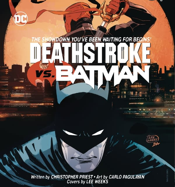 Deathstroke Vs. Batman – New Series by Priest and Carlo Pagulayan From DC Comics for April
