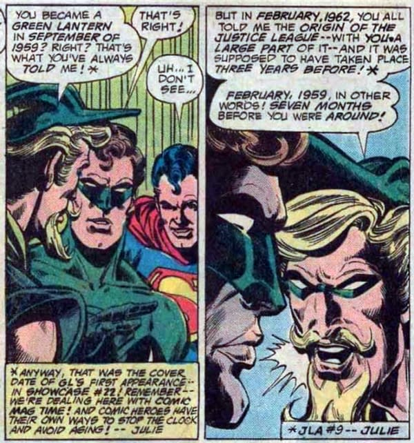 Some Implications Of The New DC Comics 60-Year Timeline - Are We Partying Like It's 1999?
