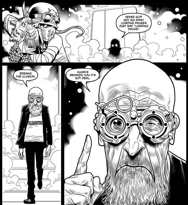 Old Man Gillen or Old Man Jerusalem in Cinema Purgatorio #18?