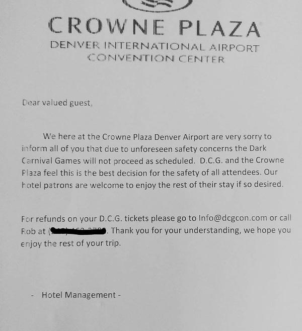 Dark Carnival Games Con Shut Down, ICP Responds