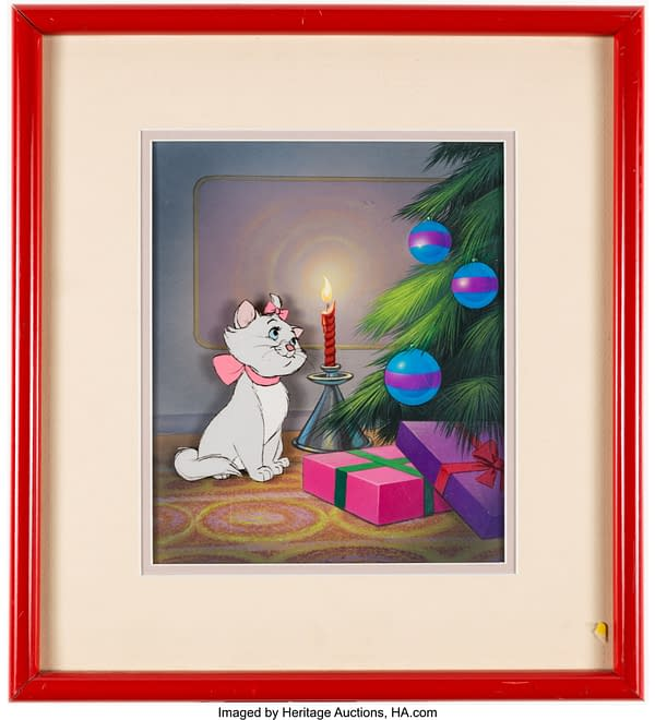 Framed Disney's The Aristocats Marie Production Cel. Credit: Heritage Auctions