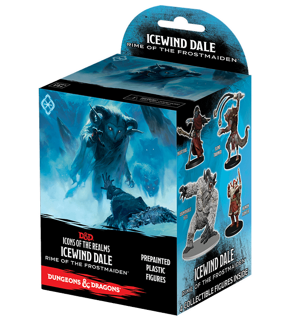 Icons of the Realms: Icewind Dale: Rime of the Frostmaiden Booster Set, courtesy of WizKids.