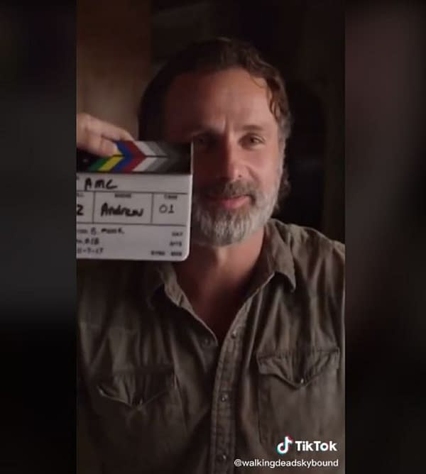 The Walking Dead is now on TikTok. Sorry, Andrew Lincoln (Image: screencap)
