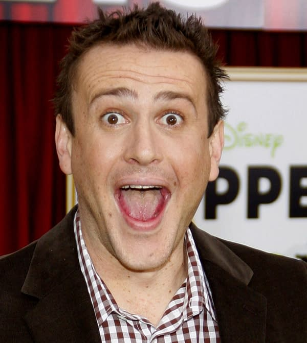 """HOLLYWOOD, CALIFORNIA - November 12, 2011. Jason Segel at the World premiere of """"The Muppets"""" held at El Capitan Theater, Los Angeles."""