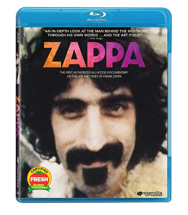 A look at the cover for Zappa, courtesy of Magnolia Home Entertainment.