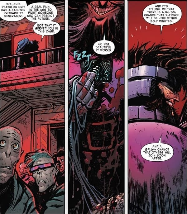 Ahab Obtains the Latest in Spoiler Technology in X-Force #4