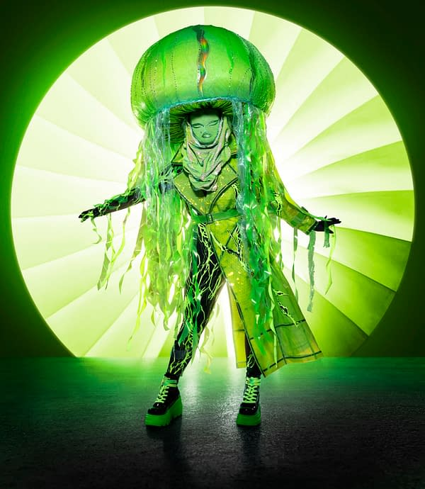 THE MASKED SINGER: Jellyfish. The Season Four premiere of THE MASKED SINGER airs Wednesday, Sept. 23 (9:00-10:00 PM ET/PT) on FOX. © 2020 FOX MEDIA LLC. CR: Michael Becker/FOX.