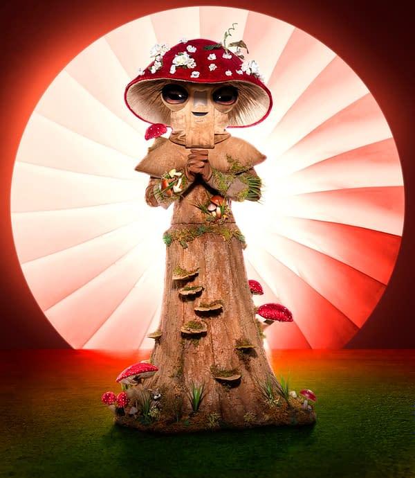THE MASKED SINGER: Mushroom. The Season Four premiere of THE MASKED SINGER airs Wednesday, Sept. 23 (9:00-10:00 PM ET/PT) on FOX. © 2020 FOX MEDIA LLC. CR: Michael Becker/FOX.