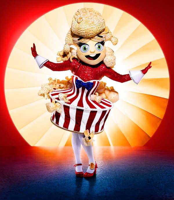 THE MASKED SINGER: Popcorn. The Season Four premiere of THE MASKED SINGER airs Wednesday, Sept. 23 (9:00-10:00 PM ET/PT) on FOX. © 2020 FOX MEDIA LLC. CR: Michael Becker/FOX.
