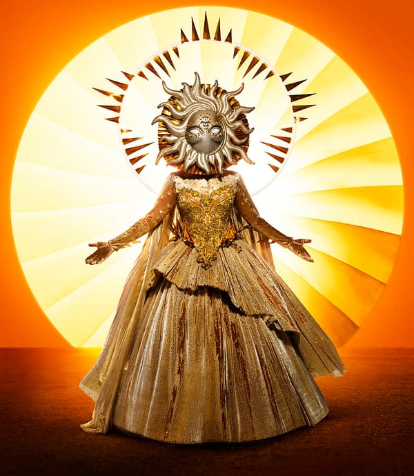 THE MASKED SINGER: Sun. The Season Four premiere of THE MASKED SINGER airs Wednesday, Sept. 23 (9:00-10:00 PM ET/PT) on FOX. © 2020 FOX MEDIA LLC. CR: Michael Becker/FOX.