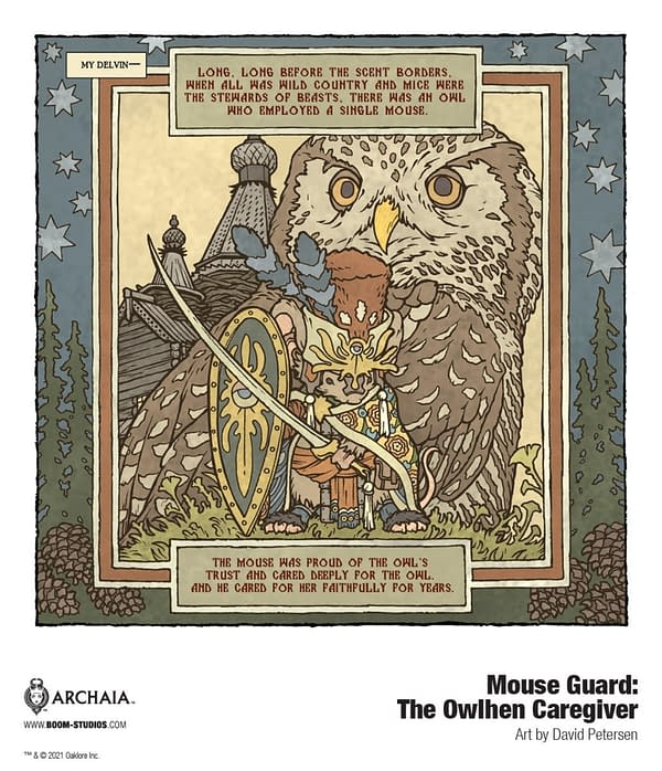 Dave Petersen Returns To Mouse Guard in July