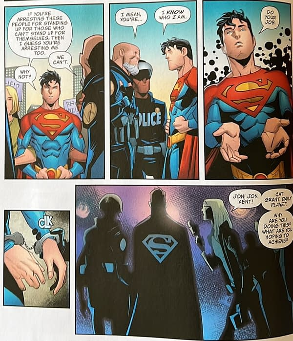 Another Superman Arrested By Police, Over Politics (Spoilers)