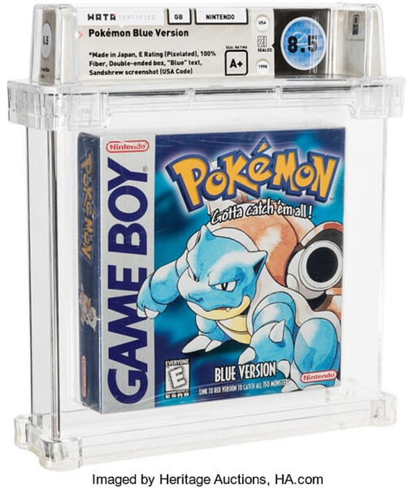 A rare graded and sealed copy of Pokémon Blue Version is up for auction at Heritage Auctions right now!