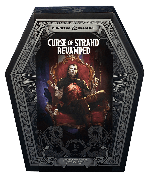 A look at the case for Curse of Strahd Revamped, courtesy of Wizards of the Coast.