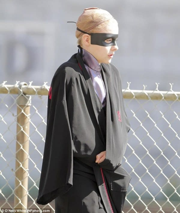 Hit Girl In Action – More Kick-Ass 2 Set Pictures