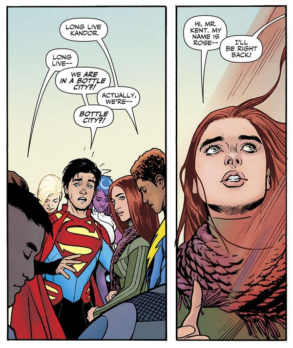 Legion Of Super-Heroes #1 ExplainsHow the Earth Got to Look Like That, and Rose Meets Superboy – Briefly