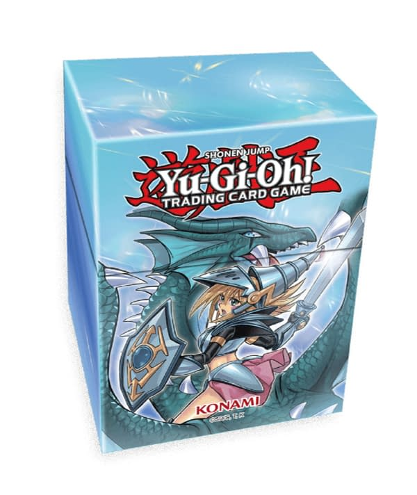 A look at the box for the Yu-Gi-Oh! Dark Magician Girl the Dragon Knight set, courtesy of Konami.
