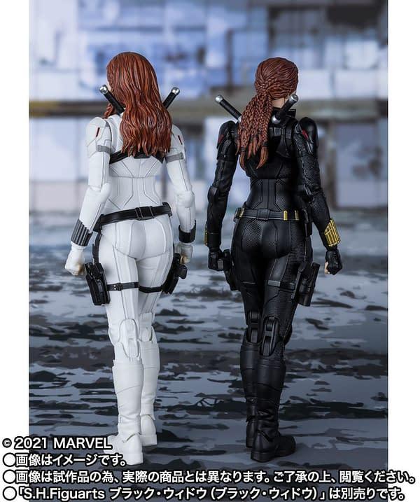 Tamashii Nations Reveals White Costume Black Widow S.H. Figuarts