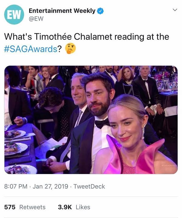 "Timothée Chalamet Calls Denis Villeneuve's 'Dune' ""Grounded"""