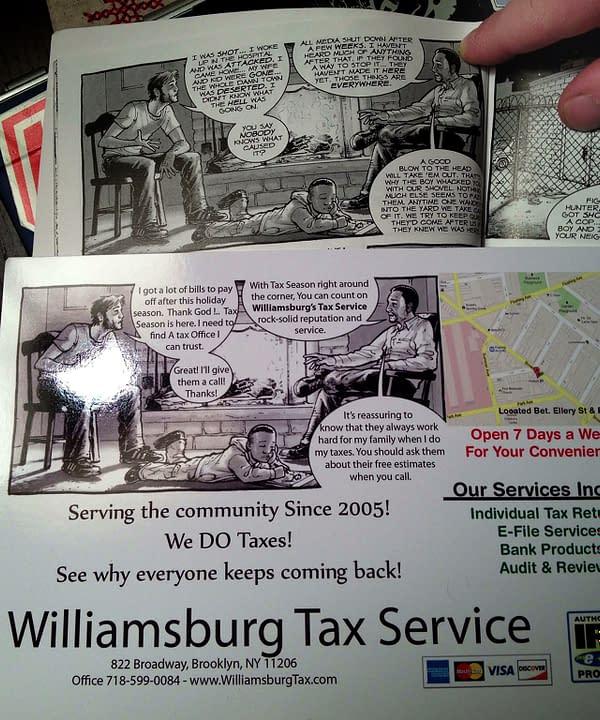 Swipe File: Walking Dead Vs Willamsburg Tax Services
