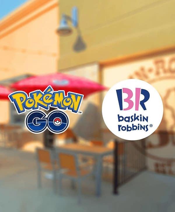 New sponsored content in Pokémon GO now. Credit: Baskin-Robbins