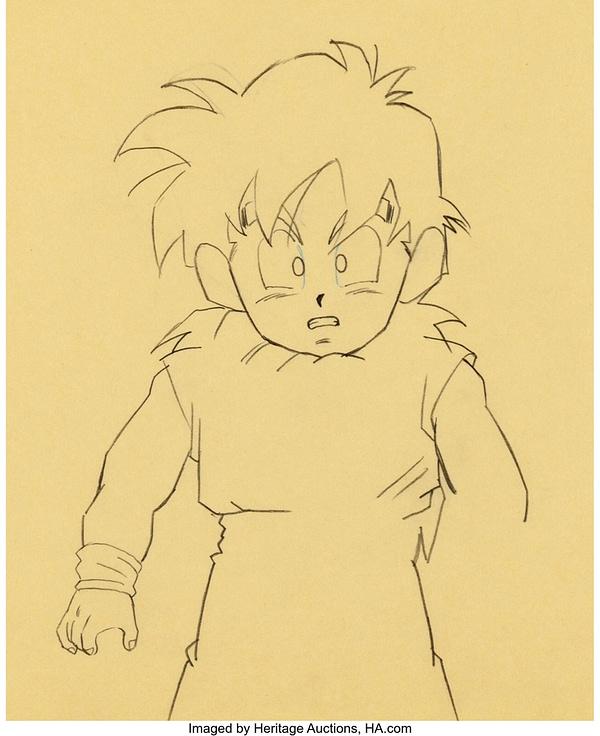 Gohan & Krillin from Dragon Ball Z Original Artwork. Credit: Heritage Auctions