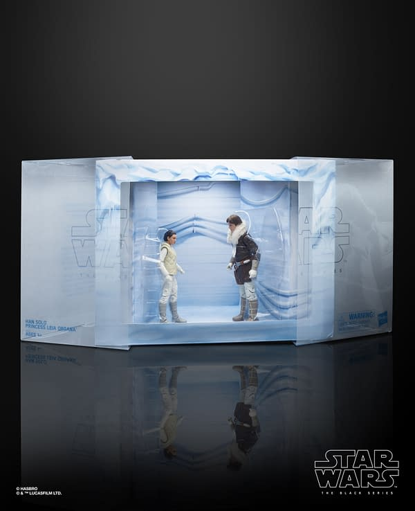 STAR WARS THE BLACK SERIES HAN SOLO AND PRINCESS LEIA ORGANA Figures - in pkg1