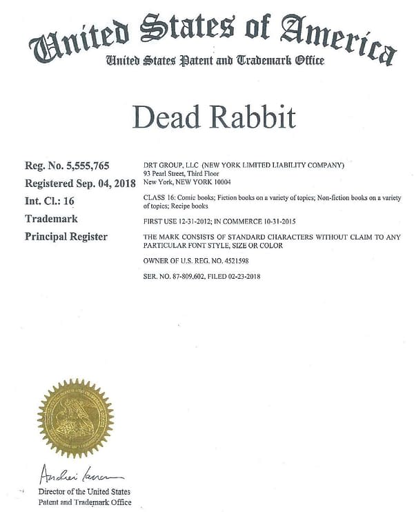 New York Bar Sues Image Comics and Forbidden Planet For $2 Million Over Dead Rabbit Trademark