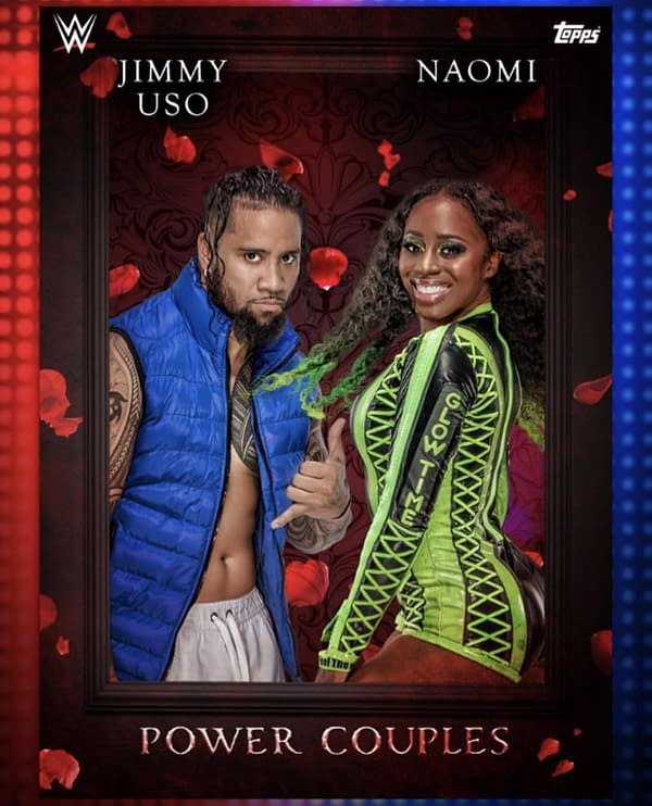 WWE Trading Card Set Ships Jey Uso with Naomi… His Brother Jimmy's Wife!