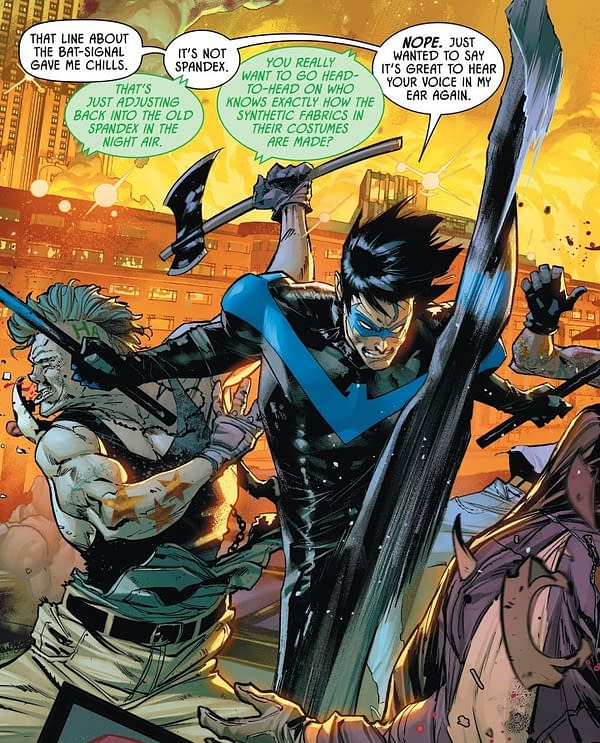Nightwing High-Kicking His Way To Recovery (Justice League #54)