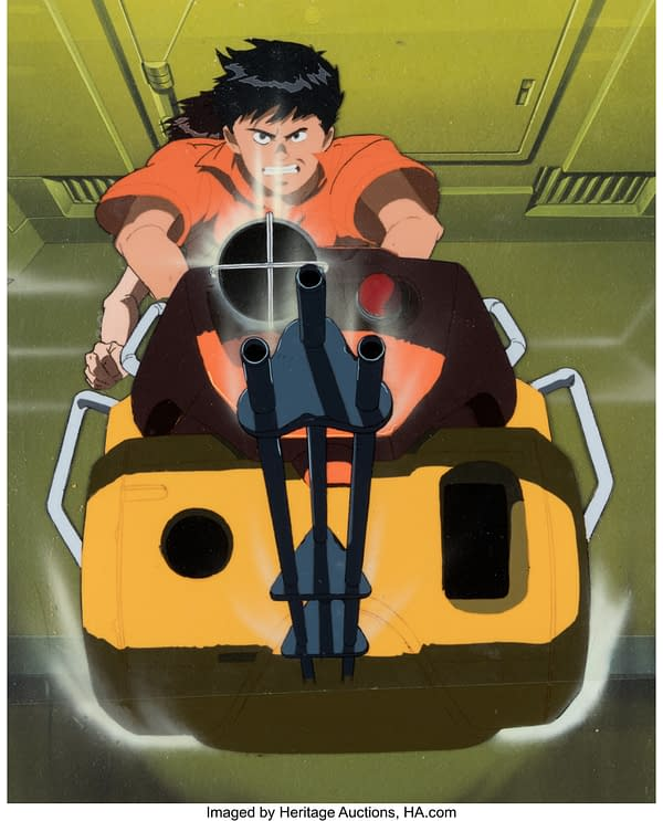 A production cell for the Akira anime, the auction of which we previously covered.  The auction of this production cell is attributed to Heritage Auctions.