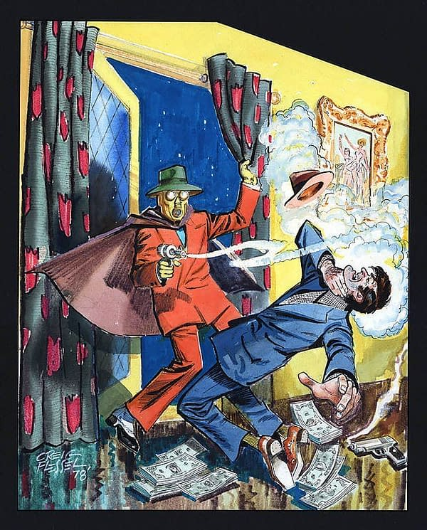 Adventure Comics #40 cover recreation by Creig Flessel
