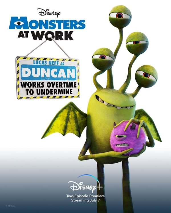 Monsters at Work Introduces Disney+ Spinoff Series Cast; New Key Art