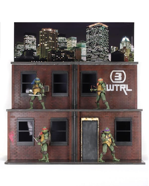 Sdcc 2018 NECA Exclusive TMNT 1990 Diorama 5