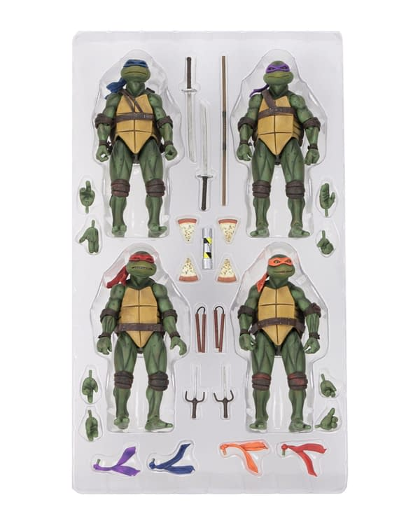 Sdcc 2018 NECA Exclusive TMNT 1990 Figure Set 2