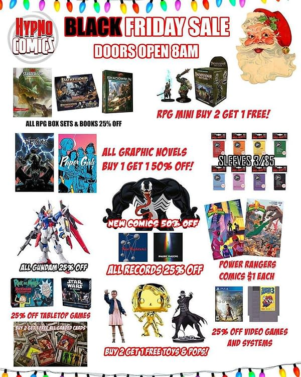 14 Black Friday Comic Store Flyers – Have You Sent Yours In…?