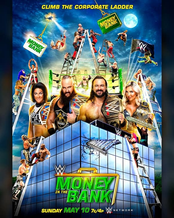 The event poster for WWE Money in the Bank.