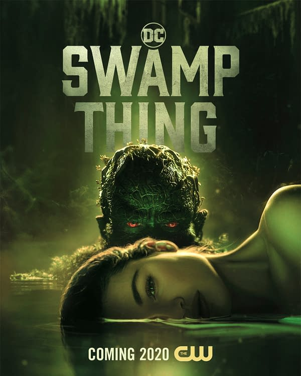 Swamp Thing -- Image Number: SWA_1080x1350_200dpi.jpg -- Pictured (L-R): Crystal Reed as Abby Arcane and Dearek Mears as Swamp Thing Ñ Photo: 2020 Warner Bros. Entertainment Inc. All Rights Reserved.