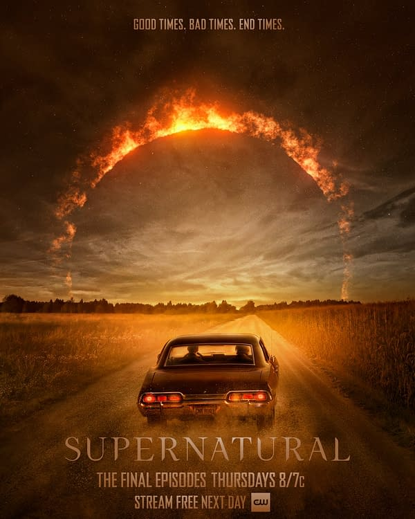 Supernatural released a new poster for the final episodes (Image: the CW)