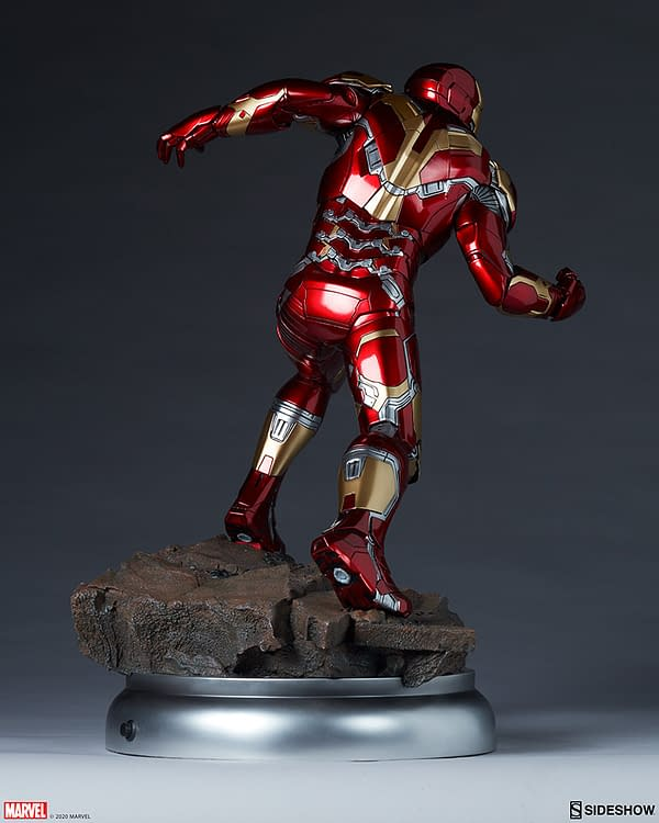 Iron Man Mark XLIII Armor Statue Arrives at Sideshow