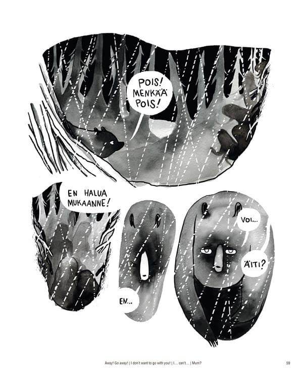 "Mari Ahokoivu's 376-Page Graphic Novel ""Oksi"" Publishing in English"