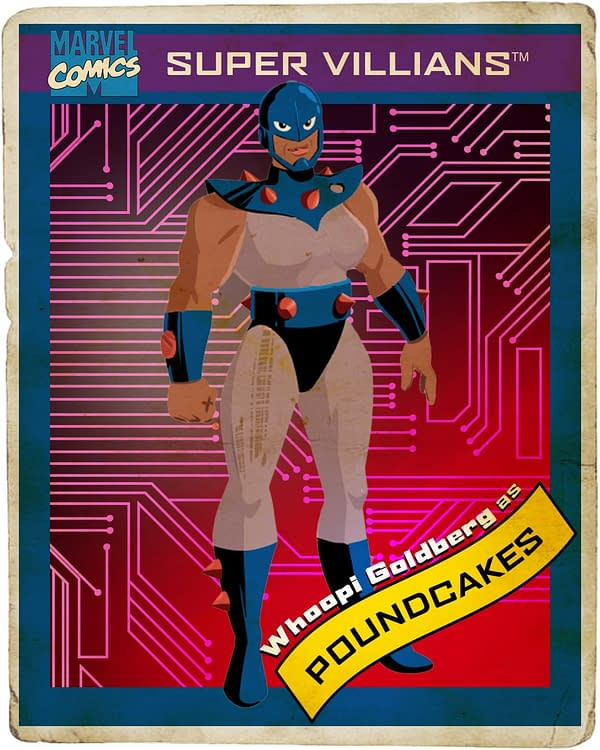 Marvel's M.O.D.O.K.: Hulu Series Deals Out Cast Trading Card Posters