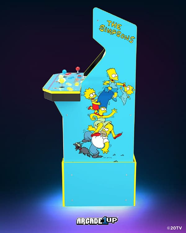 Promo image for The Simpsons arcade cabinet, courtesy of Arcade1Up.