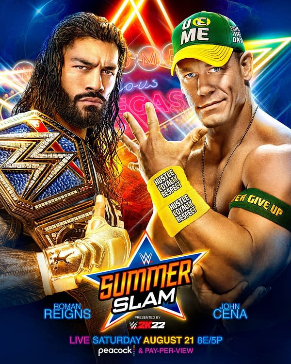 The official poster for WWE SummerSlam