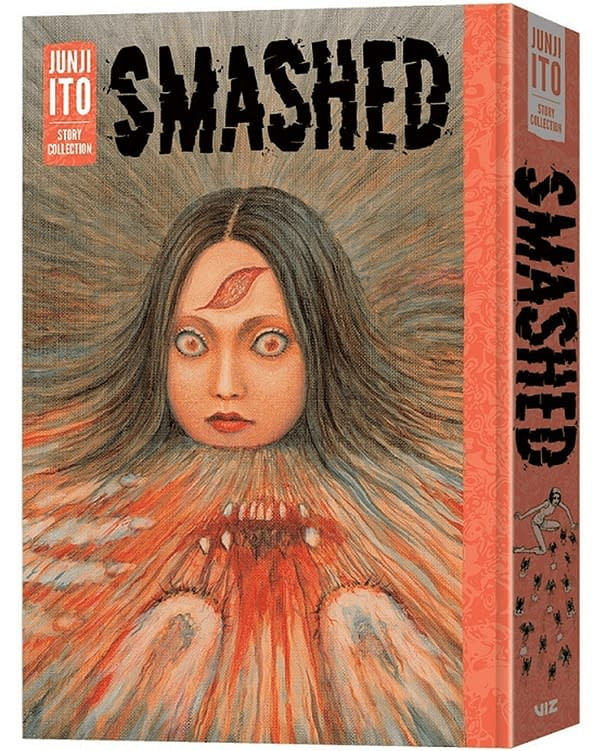 A render of Junji Ito's Smashed Book standing on its own.