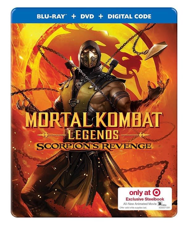Mortal Kombat Scorpion S Revenge Gets Target Exclusive Steelbook