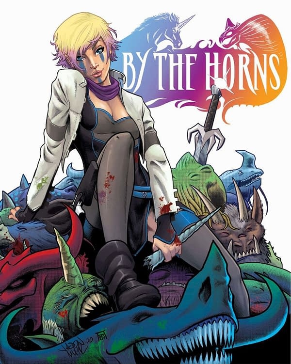 By the Horns #1 cover. Credit: Scout Comics.