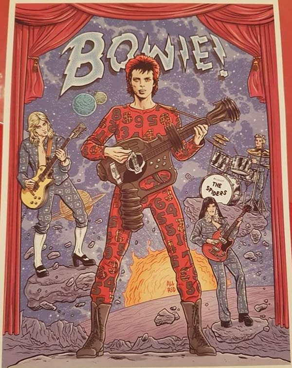 Comic Stores Get Exclusive Cover for Michael Allred's David Bowie Graphic Memoir - 9 Page Preview